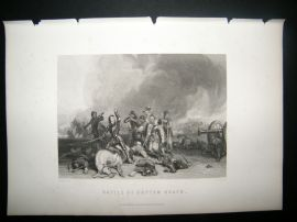 Military C1870 Antique Print. Battle of Hopton Heath